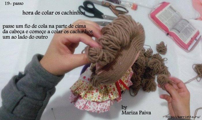 Красивая прическа с кудряшками для куклы. Мастер-класс (11) (700x417, 250Kb)