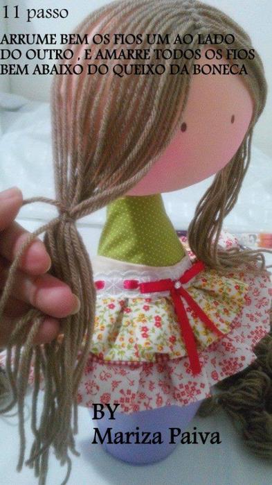 Красивая прическа с кудряшками для куклы. Мастер-класс (13) (393x700, 335Kb)