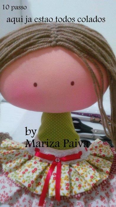 Красивая прическа с кудряшками для куклы. Мастер-класс (14) (393x700, 323Kb)