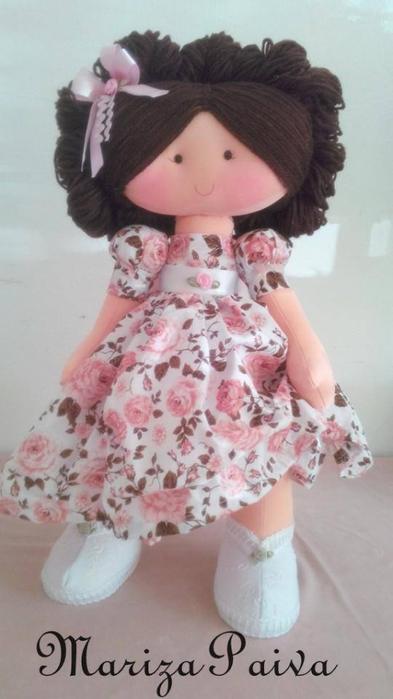 Красивая прическа с кудряшками для куклы. Мастер-класс (28) (393x700, 218Kb)