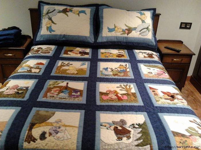 Детское лоскутное одеяло с крошкой СЬЮ (2) (700x525, 295Kb)