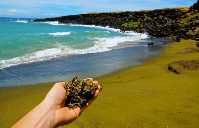 зеленый пляж на гавайях фото 9 (700x449, 337Kb)