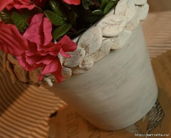 Варианты декорирования цветочных горшков (17) (596x483, 123Kb)