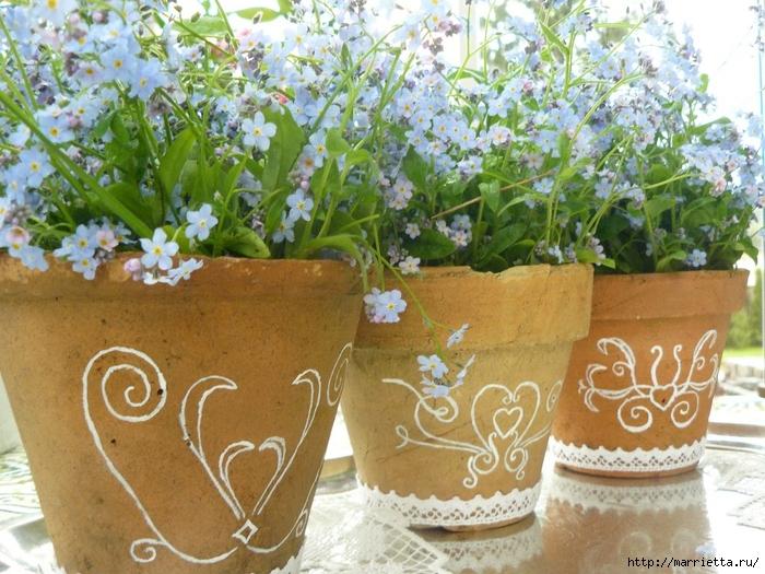 Варианты декорирования цветочных горшков (23) (700x525, 345Kb)