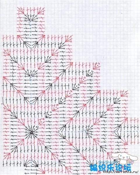 Пуловер крючком в этническом стиле (2) (481x600, 275Kb)