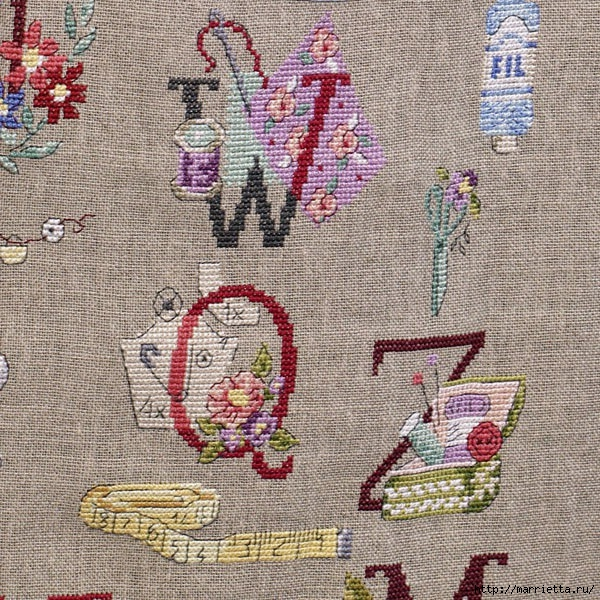 Льняной фартук для рукодельницы, с вышивкой на швейную тему (9) (600x600, 390Kb)