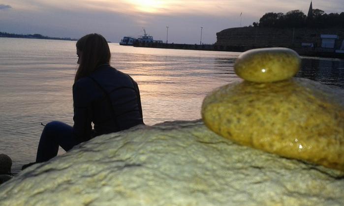 Закат. Камни. (700x419, 250Kb)