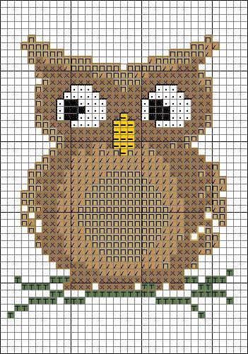 СОВУШКИ. Схемы вышивки крестом (23) (351x501, 295Kb)