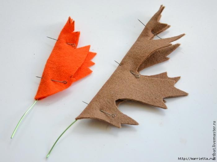 Осенний венок из фетровых листьев. Мастер-класс (5) (700x524, 149Kb)