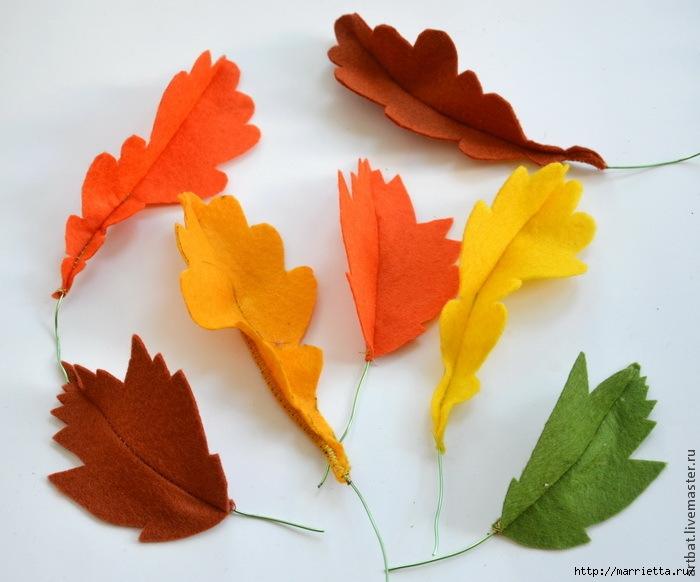 Осенний венок из фетровых листьев. Мастер-класс (7) (700x582, 193Kb)