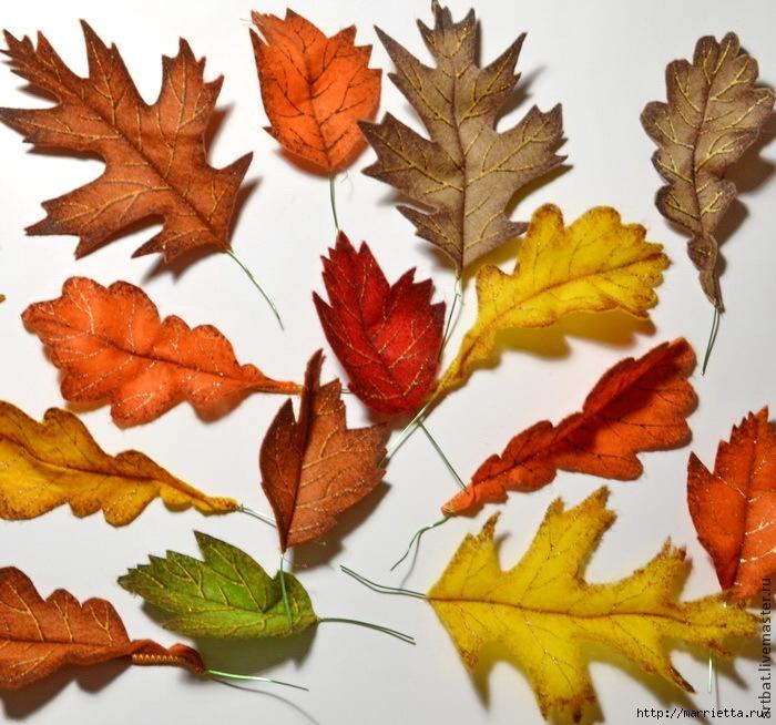 Осенний венок из фетровых листьев. Мастер-класс (9) (700x654, 315Kb)