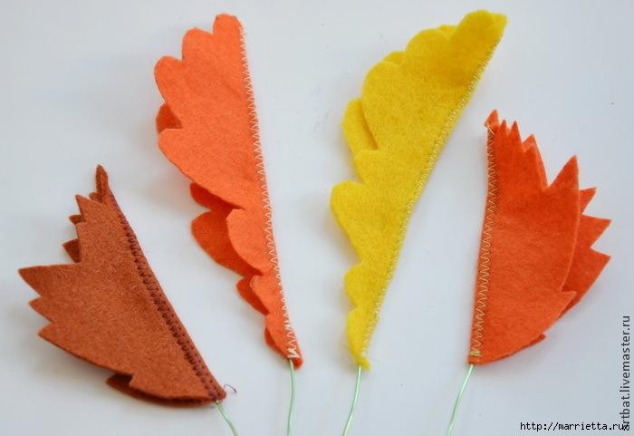 Осенний венок из фетровых листьев. Мастер-класс (13) (700x481, 153Kb)