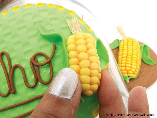 Украшаем баночку кукурузой из полимерной глины (7) (533x400, 114Kb)