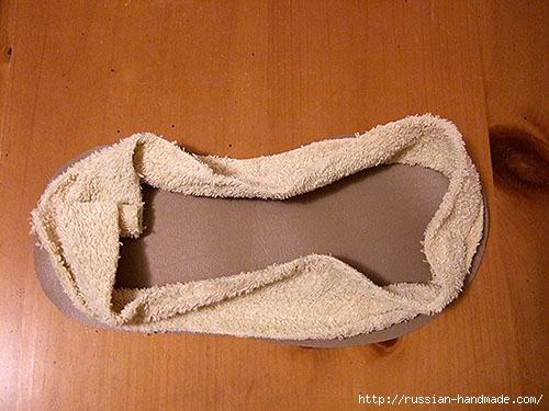 Как сшить теплые мягкие спа-тапочки из полотенца (16) (500x375, 154Kb)