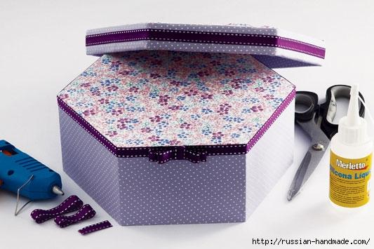 Декорировние коробочки тканью узором в технике оригами (7) (533x355, 131Kb)