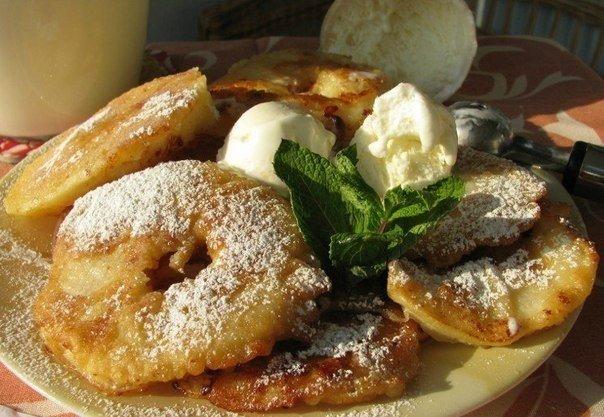 Яблоки в тесте жареные рецепт с фото