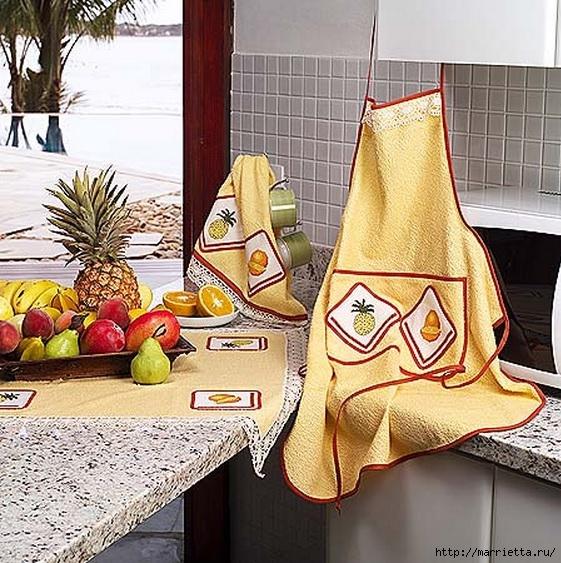 Цитрусовая вышивка для фартука и кухонного полотенца (4) (561x563, 278Kb)