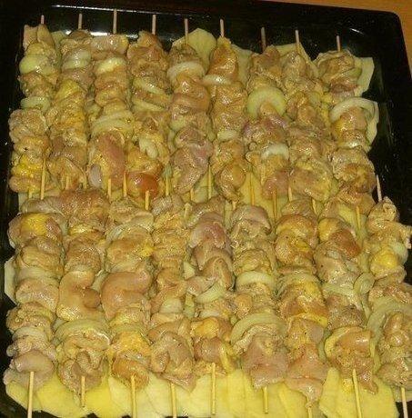 куриный шашлык с картошкой в духовке(453x460, 214Kb)