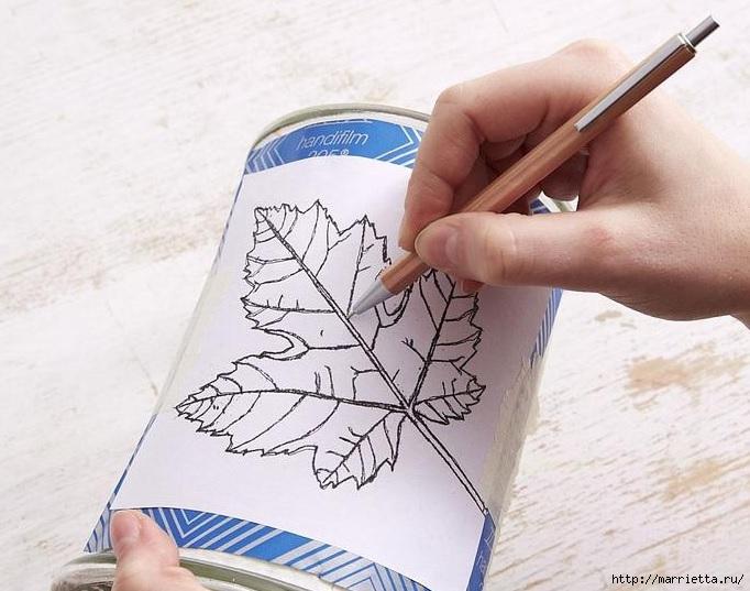 Гравировка по стеклу. Осенний подсвечник (3) (682x537, 206Kb)