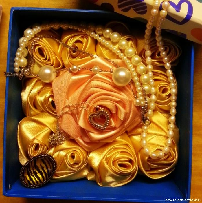 Розочки из лент для заколок и свадебных букетов (2) (698x700, 415Kb)