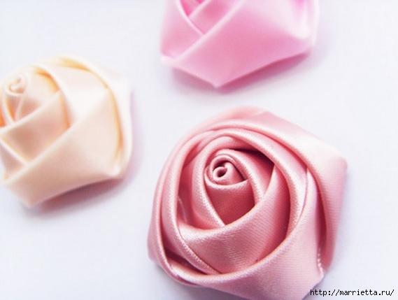 Розочки из лент для заколок и свадебных букетов (34) (569x429, 93Kb)