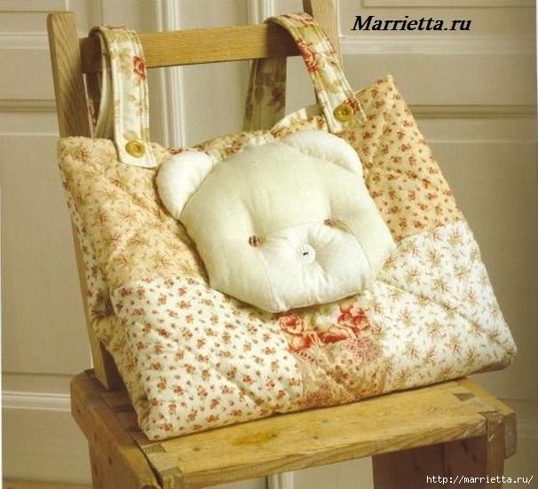Пеленальный коврик - сумочка для малыша. Шьем сами (1) (606x551, 194Kb)