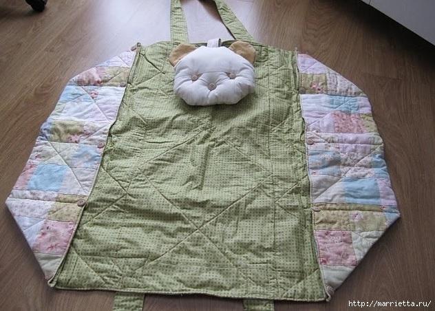 Пеленальный коврик - сумочка для малыша. Шьем сами (7) (632x452, 225Kb)