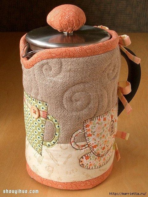 Лоскутное шитье. Красивая грелка для чайника (5) (480x640, 235Kb)