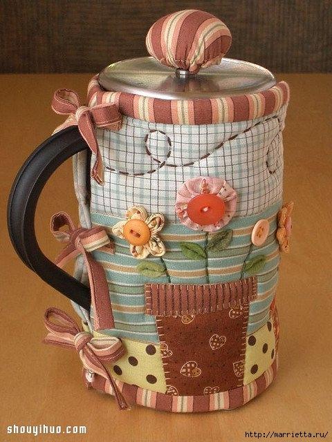Лоскутное шитье. Красивая грелка для чайника (9) (480x640, 208Kb)