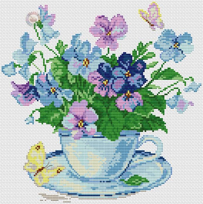 Moning flower (694x700, 742Kb)