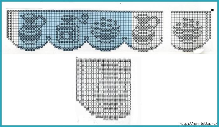 Кружевная кайма крючком. Схемы вязания (13) (700x408, 177Kb)
