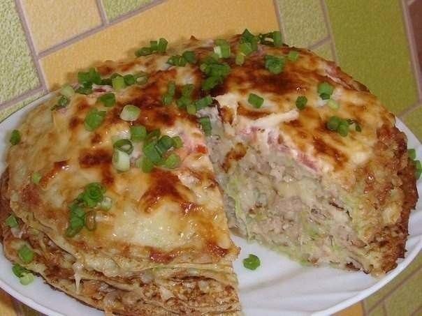 Кабачково-сырный тортик с мясом (604x453, 46Kb)