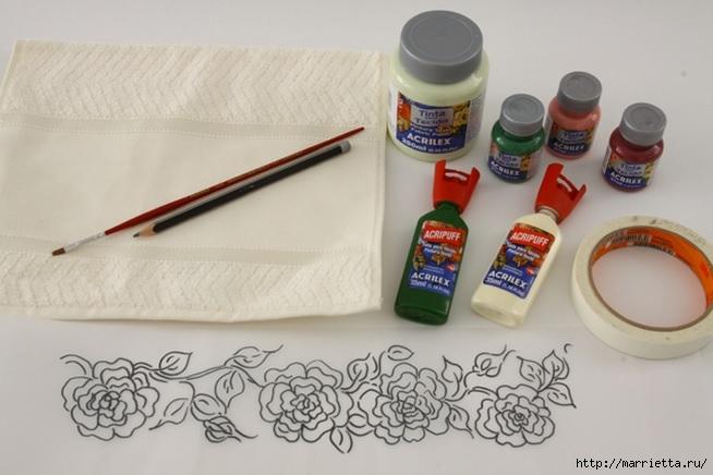Украшаем кухонные полотенца росписью акриловыми красками (2) (654x436, 142Kb)