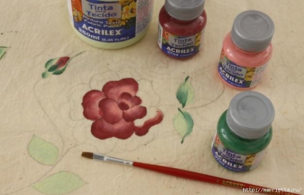 Украшаем кухонные полотенца росписью акриловыми красками (4) (626x403, 130Kb)