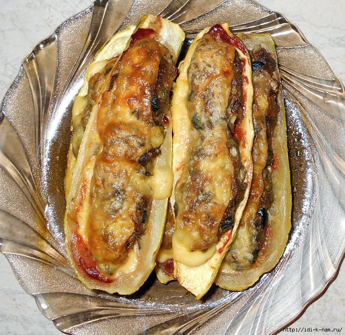 рецепт фаршированных кабачков, как приготовить фаршированные кабачки, рецепт приготовления кабачков лодочек с фаршем, как приготовить лодочки из кабачков с фаршем, Хьюго Пьюго рукоделие кабачки лодочки с фаршем,  /4682845_DSCN0573 (700x679, 561Kb)