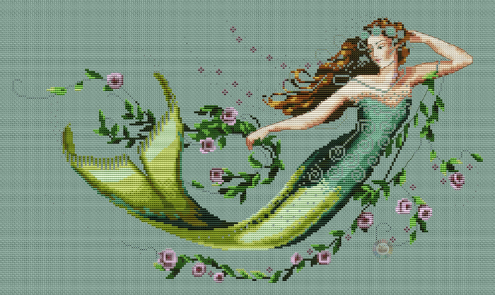 Emerald mermaid (700x417, 369Kb)