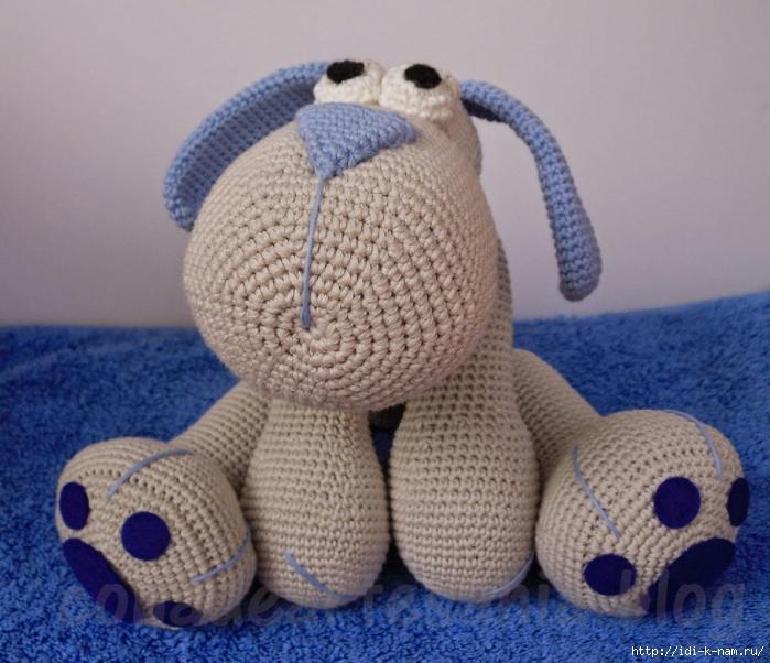 схема вязания собачки,