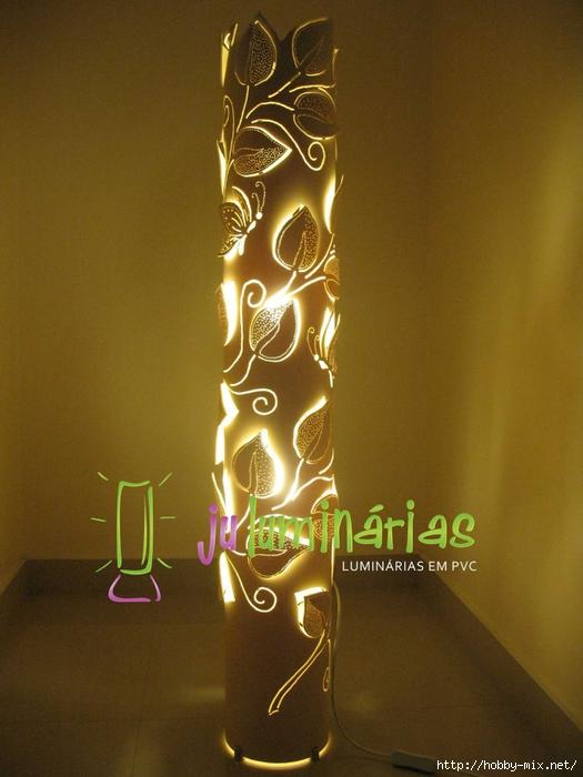 Светильники из пвх труб