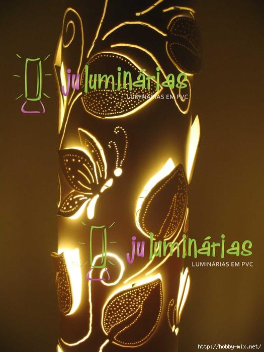 Luminбria em PVC - Folhagem trepadeira 150mm detalhe (525x700, 261Kb)