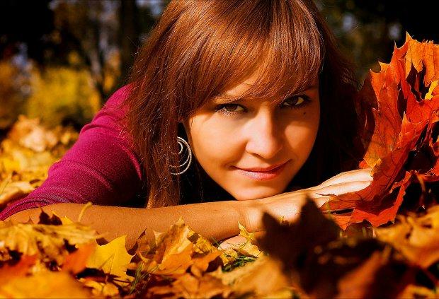 Осень и красивые девушки фото на аву