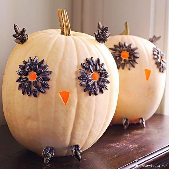 СОВА из тыквы. Идеи декора к Хэллоуину (5) (550x550, 184Kb)