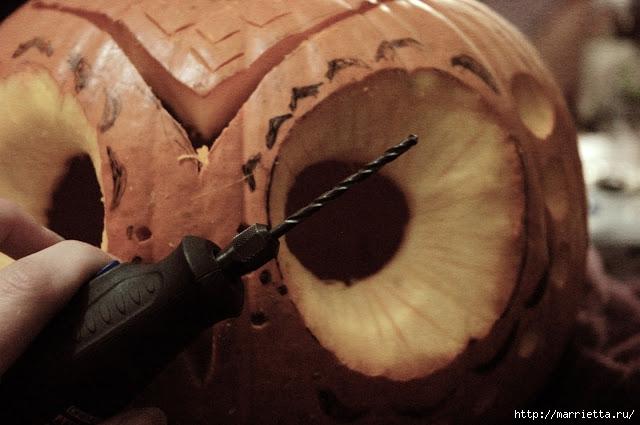 СОВА из тыквы. Идеи декора к Хэллоуину (11) (640x425, 150Kb)