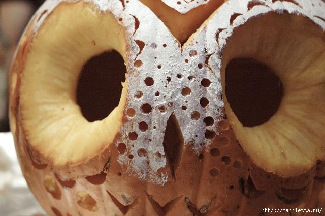СОВА из тыквы. Идеи декора к Хэллоуину (14) (640x425, 188Kb)