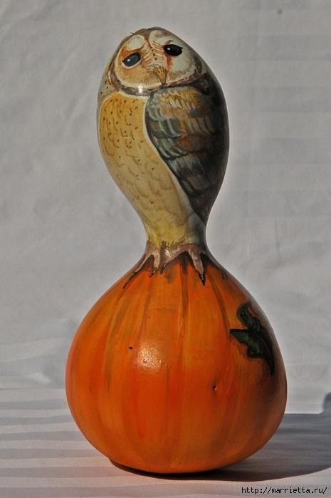 СОВА из тыквы. Идеи декора к Хэллоуину (18) (465x700, 205Kb)