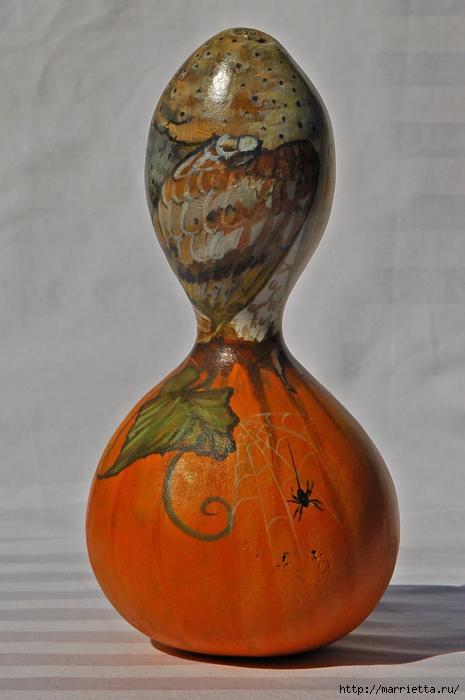 СОВА из тыквы. Идеи декора к Хэллоуину (21) (465x700, 200Kb)