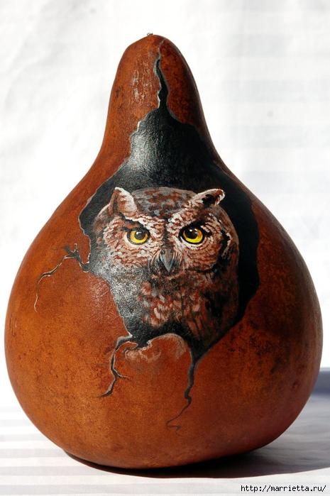 СОВА из тыквы. Идеи декора к Хэллоуину (22) (465x700, 234Kb)
