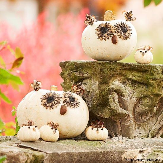 СОВА из тыквы. Идеи декора к Хэллоуину (33) (550x550, 208Kb)