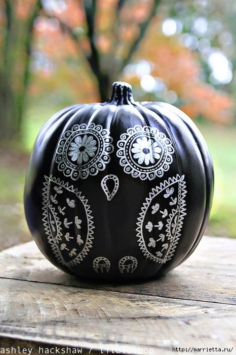 СОВА из тыквы. Идеи декора к Хэллоуину (35) (466x700, 265Kb)