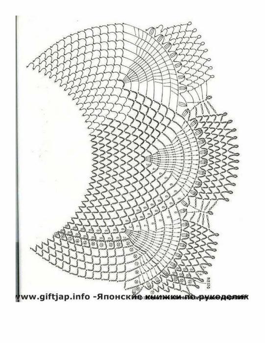 Delicate Dress Chart Crochet003 (541x700, 216Kb)