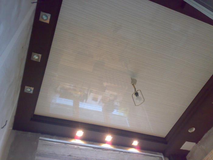 Потолки на кухни своими руками
